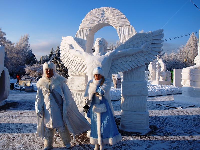 В Новосибирске открылся фестиваль снежной скульптуры