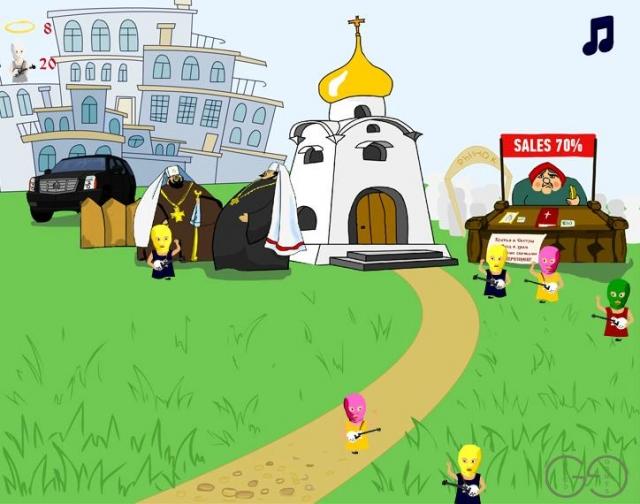 В Москве презентовали игру «Не пусти Pussy Riot в храм»