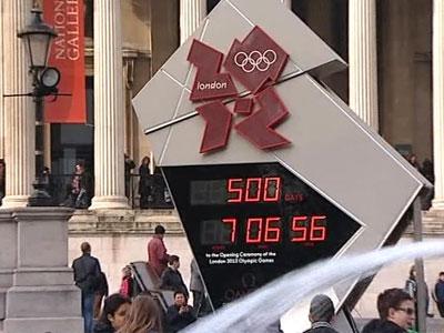Остановились часы, ведущие отсчет времени до Олимпиады