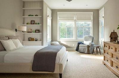 Ковролин - оптимальный выбор для покрытия в спальне