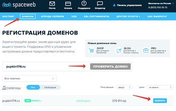 Выбор и способы регистрации домена для сайтов