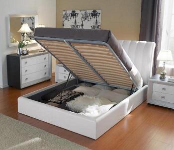 Кровать с подъемным механизмом: устройство, достоинства и сборка