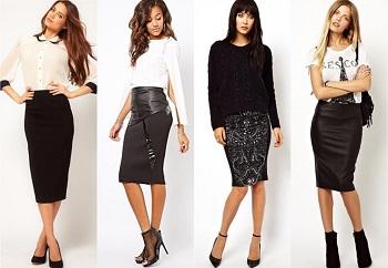 С чем носить юбки-карандаш: советы стилистов для создания модных луков