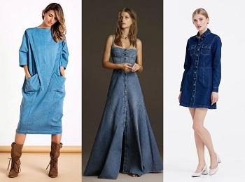 Джинсовые платья: как носить и с чем сочетать