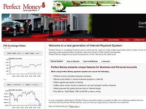 Проведение операций в платежной системе Perfect Money